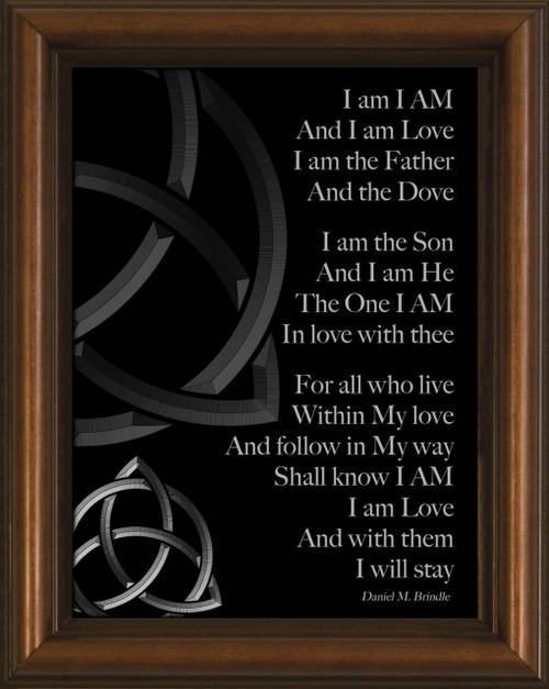 I Am Poem Framed