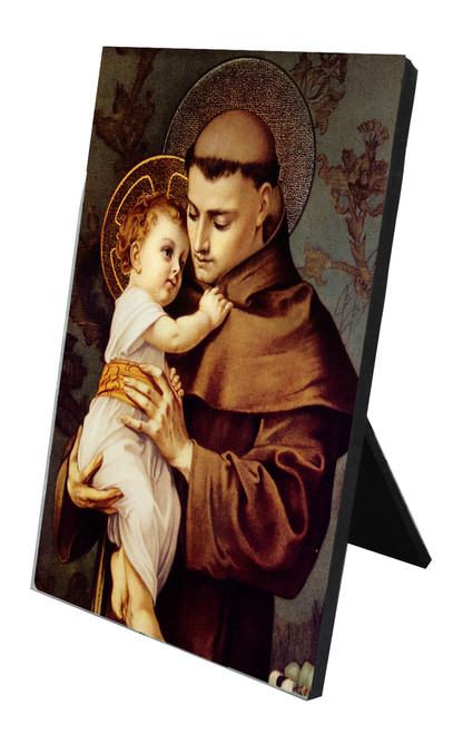 St. Anthony with Jesus Vertical Desk Plaque