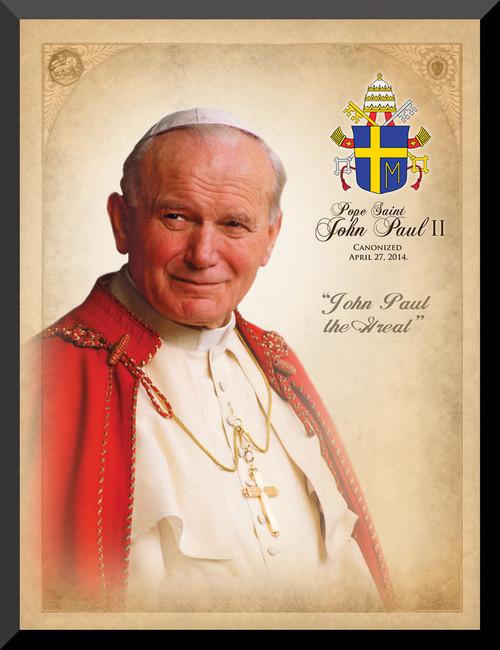 Pope John Paul II Saint Commemorative Wall Plaque