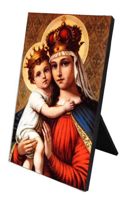 Our Lady of Good Remedy Vertical Desk Plaque