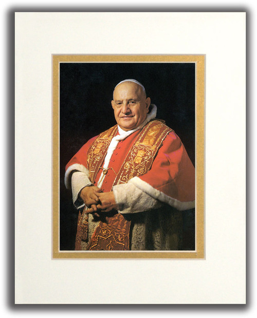Pope Saint John XXIII Formal Matted Print