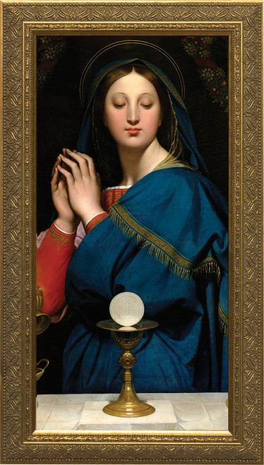 Madonna of the Host - Standard Gold Framed Art
