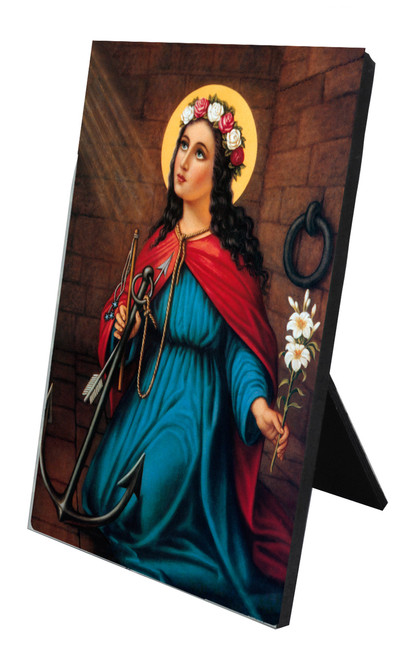 St. Philomena Vertical Desk Plaque