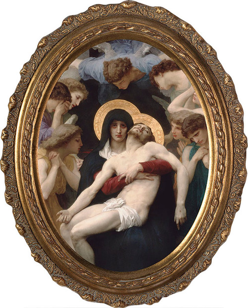 La Pieta - Oval Framed Canvas