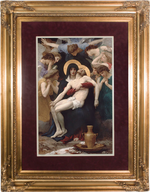 La Pieta Matted - Gold Museum Framed Canvas