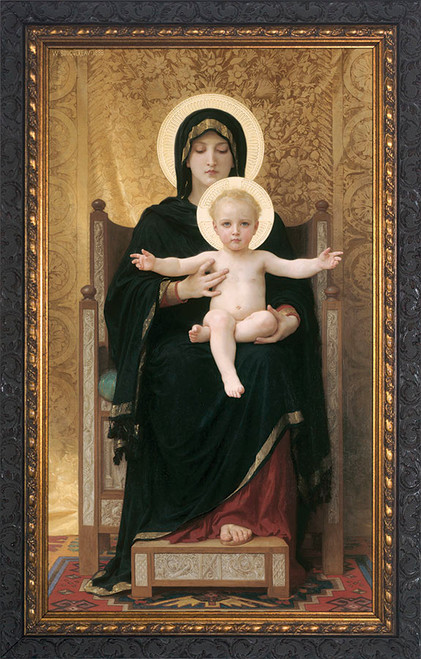 Virgin and Child - Ornate Dark Framed Art