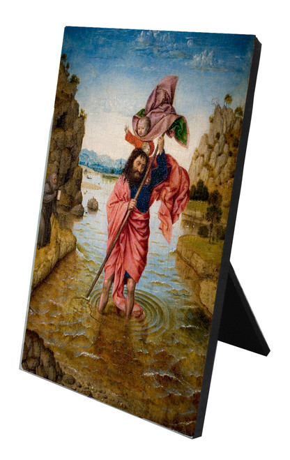 St. Christopher Vertical Desk Plaque