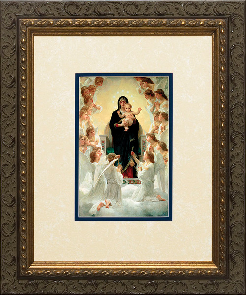 Queen of the Angels Matted - Ornate Dark Framed Art