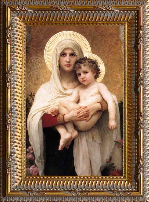 Madonna of the Roses - Ornate Gold Framed Art