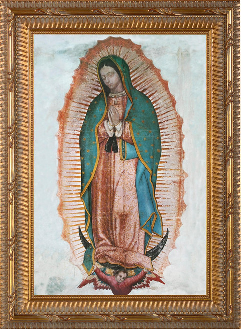 Our Lady of Guadalupe - Ornate Gold Framed Canvas
