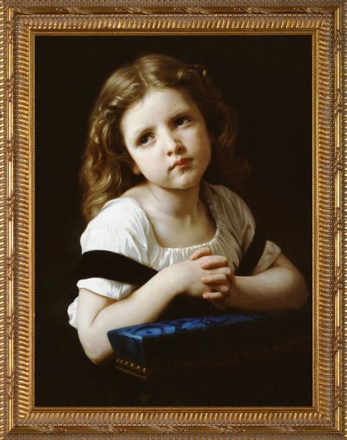 La Priere - Ornate Gold Framed Art