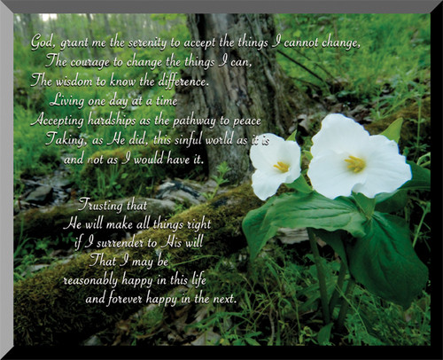 Serenity Prayer Wall Plaque