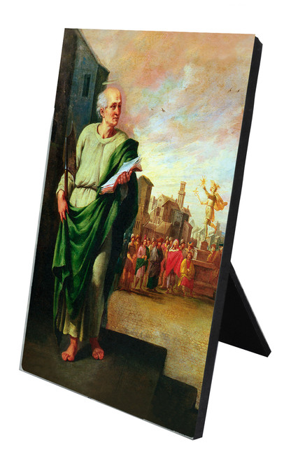 St. Matthias Vertical Desk Plaque
