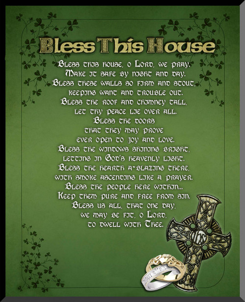 """Irish """"Bless This House"""" Wall Plaque"""