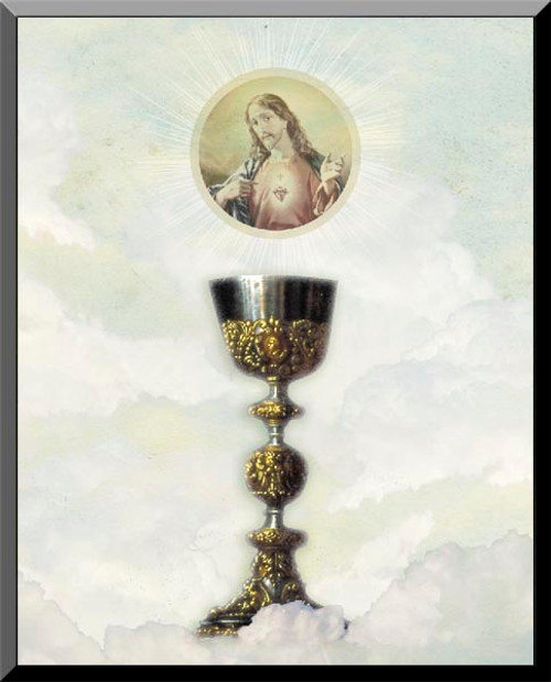 Eucharist with Sacred Heart Wall Plaque