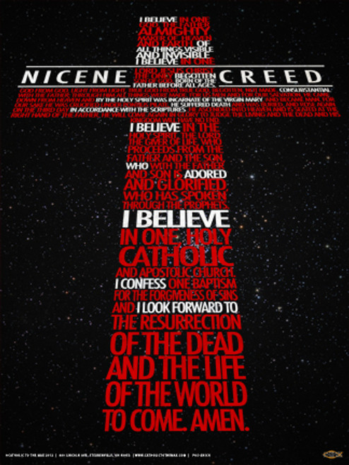 Nicene Creed Graphic Wall Plaque