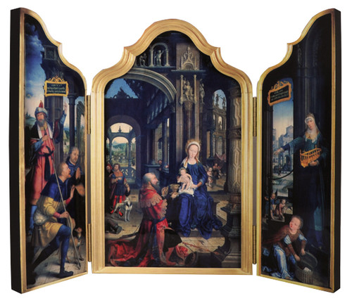 Adoration of the Infant Jesus Triptych Plaque