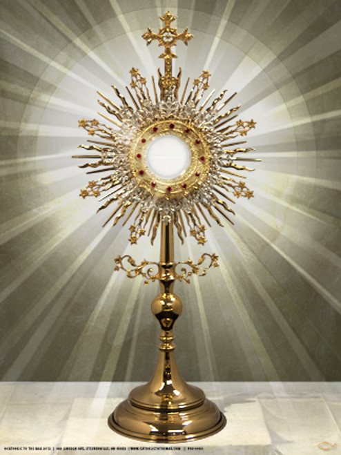 monstrance poster catholic to the max online catholic store