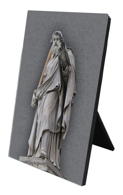St. Paul Statue Vertical Desk Plaque