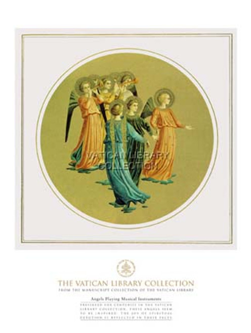 Angels Playing Musical Instruments Paper Print