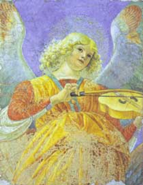 Angel playing the Viol print