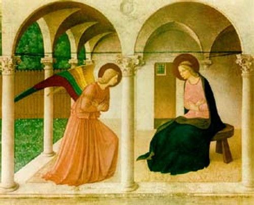 Annunciation  print by  Fra Angelico ( Price varies with size)