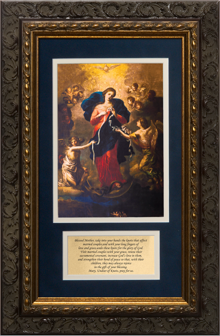Mary Undoer of Knots with Marriage Prayer Framed