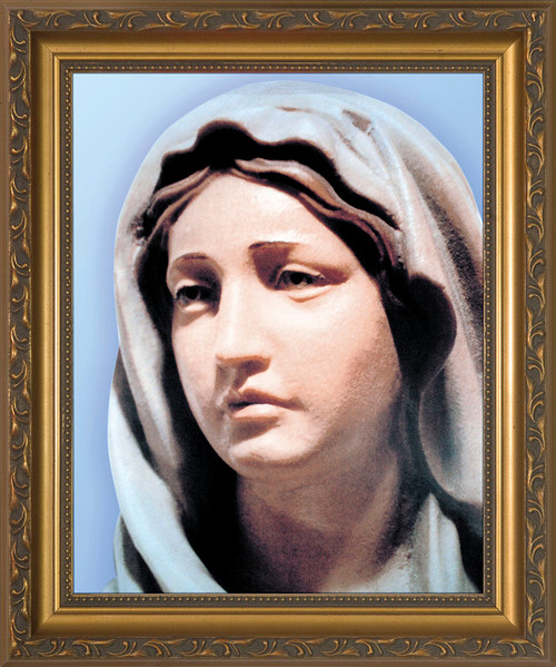Statue of Mary Framed Art