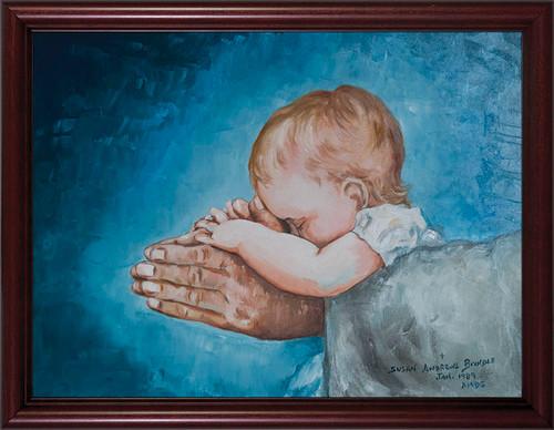 Safe in Arms by Susan Brindle Framed Art
