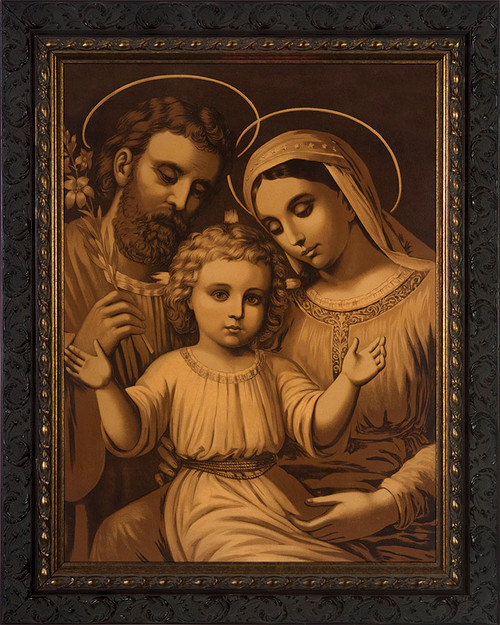 Sepia Holy Family Framed Art