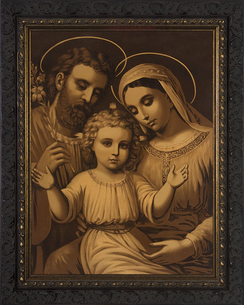 Sepia Holy Family Framed Art