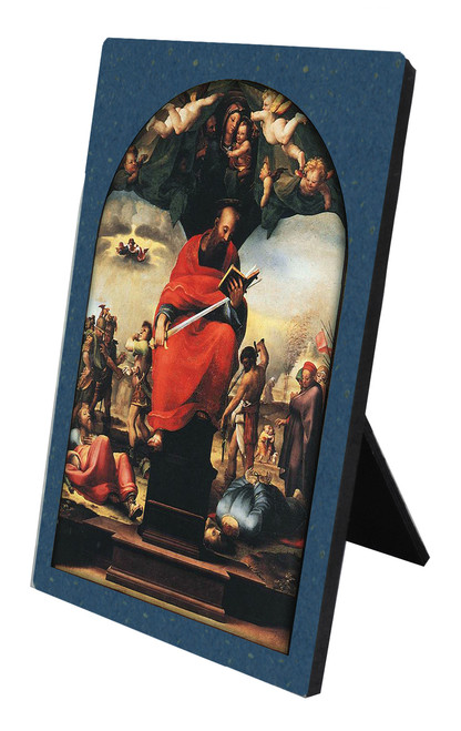 St. Paul by Beccafumi Vertical Desk Plaque