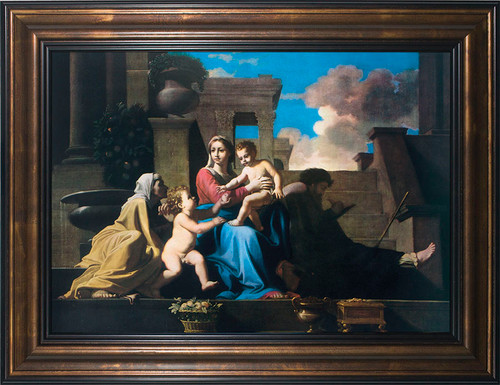 The Holy Family on the Steps Framed Art