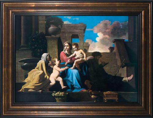 The Holy Family on the Steps Framed Art