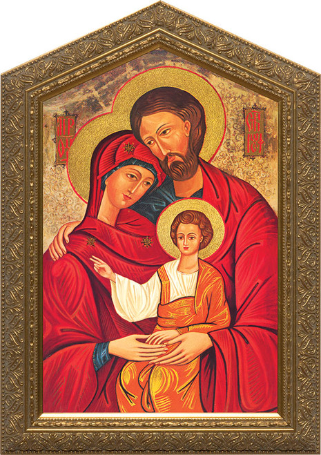 Holy Family Icon Framed