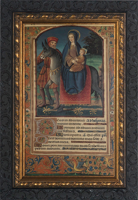 Flight Into Egypt (Medieval) Framed Art