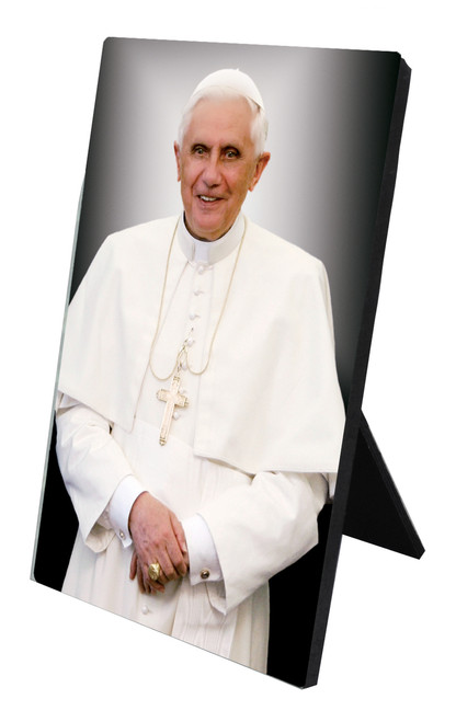 Pope Benedict Formal Vertical Desk Plaque
