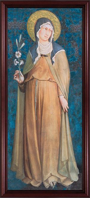 St. Clare - Cherry Framed Art