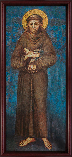 St. Francis - Cherry Framed Art