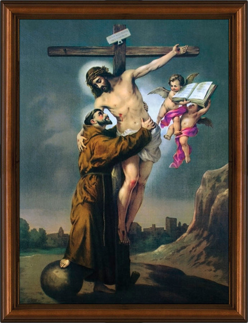 St. Francis with Christ Framed Art