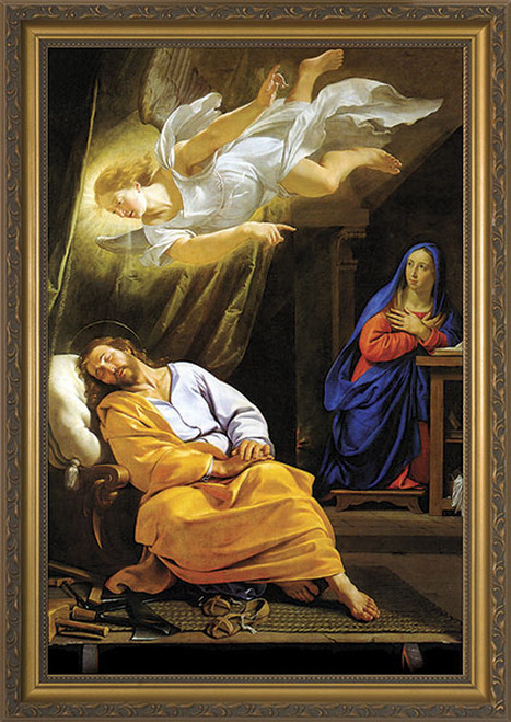 Vision of St. Joseph Framed Art