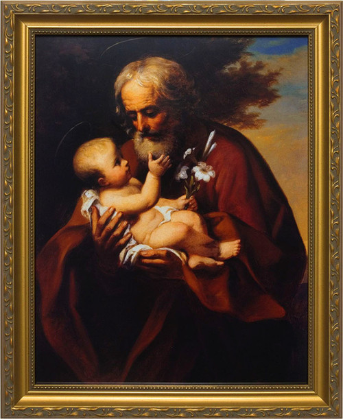 St. Joseph (Older) - Standard Gold Framed Art