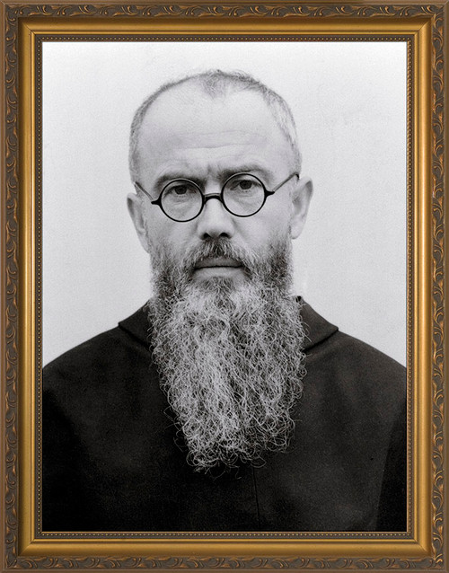 St. Maximilian Kolbe Portrait Framed Art