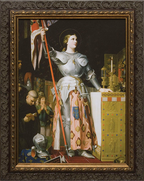 St. Joan of Arc - Ornate Dark Framed Art