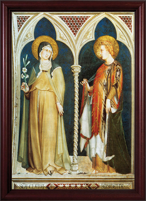 Sts. Clare and Elizabeth Framed Art