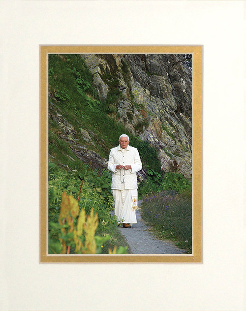 Pope Benedict In Mountains Matted - No Frame Image