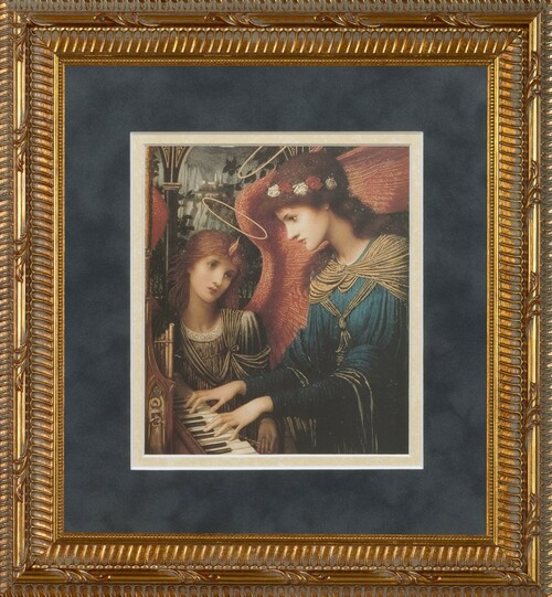 St. Cecilia by Strudwick Matted - Standard Gold Framed Art