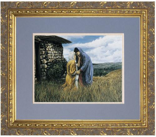 The Visitation I by Jason Jenicke Matted - Ornate Gold Framed Art (Limited Edition)