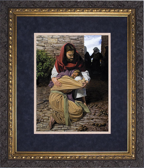 A Prodigal Daughter by Jason Jenicke Matted - Ornate Dark Framed Art