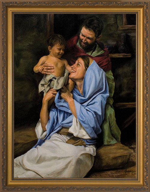Holy Family II by Jason Jenicke - Standard Gold Framed Art